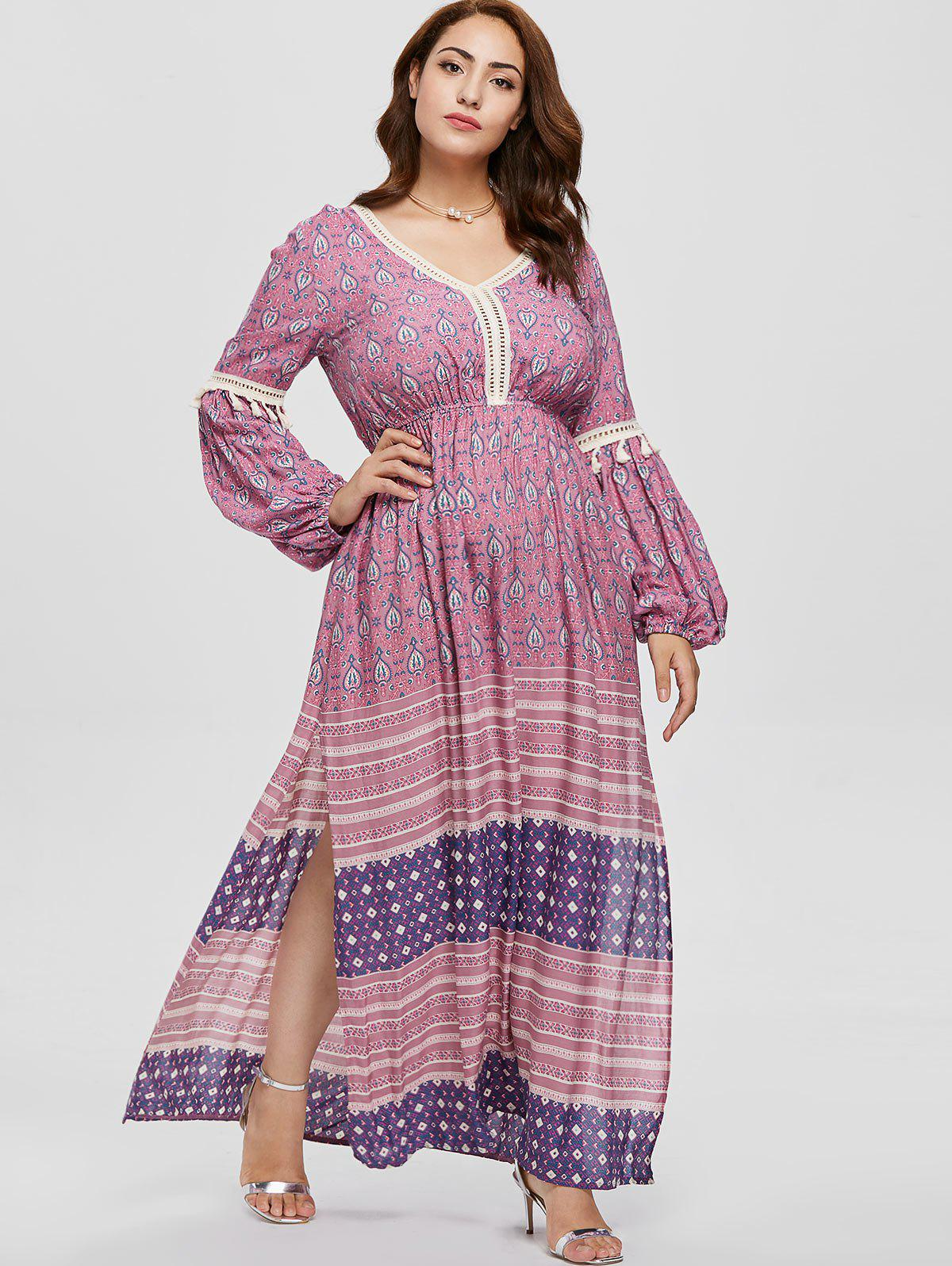 Sale Plus Size Maxi Printed Bohemian Dress