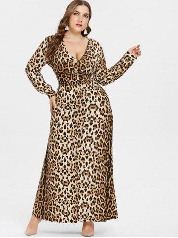 Leopard Print Plus Size Dress Maxi Bodycon Cocktail And Skater