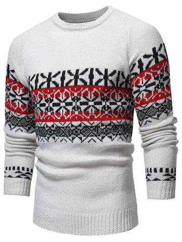 Jacquard Weave Pullover Casual Sweater
