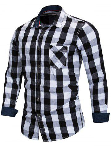 Checked Print Button Up Shirt