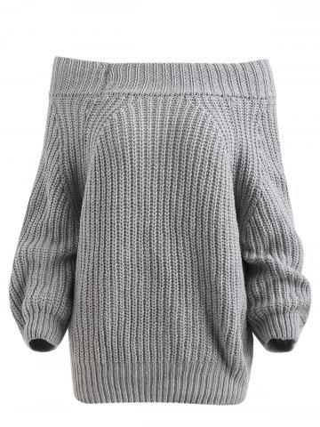 Pullover Off The Shoulder Chunky Sweater