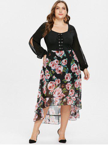 97127b4ecab Plus Size Long Black Chiffon Dress - Free Shipping