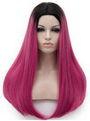 Center Parting Colormix Long Straight Party Cosplay Synthetic Wig -