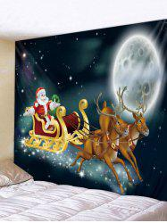 Wall Hanging Art Christmas Night Sleigh Print Tapestry -