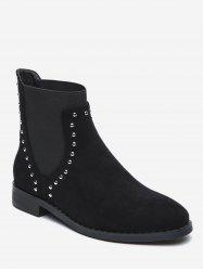 Stud Decorative Flat Chelsea Boots -