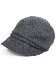 Solid Color British Style Newsboy Cap -