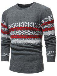 Jacquard Weave Pullover Casual Sweater -