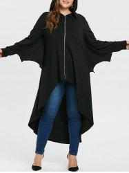 Halloween Plus Size Batwing Sleeve Long Coat -