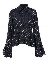 Polka Dot Long Sleeve Skirted Shirt -