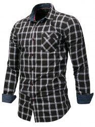 Checked Print Button Up Shirt -