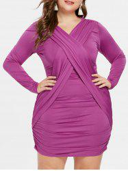 Plus Size Long Sleeve Bodycon Dress -