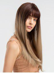 Long Full Bang Colormix Straight Synthetic Wig -