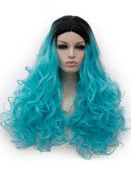 Center Parting Ombre Long Curly Party Cosplay Synthetic Wig -