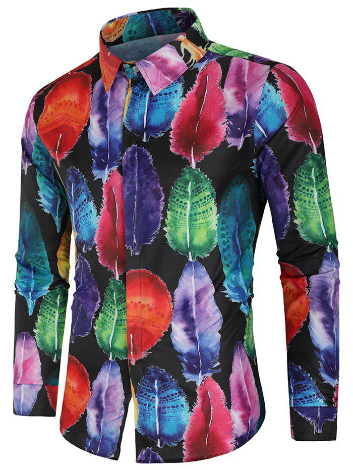 Store Paint Feather Long Sleeve Shirt