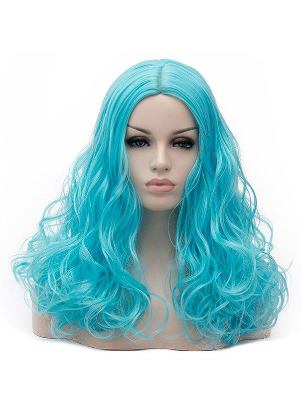 Sale Long Center Parting Curly Synthetic Party Cosplay Wig