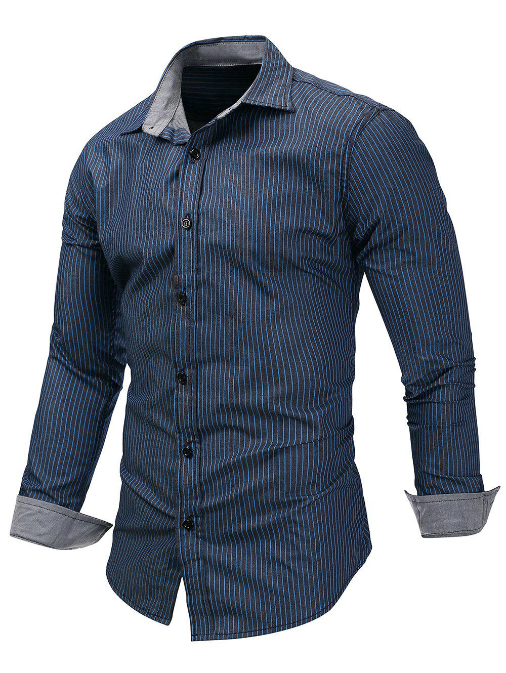 Sale Casual Long Sleeve Striped Shirt