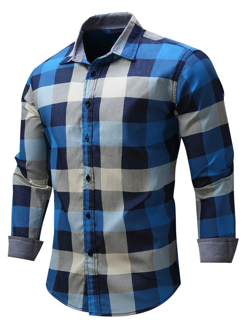 Latest Check Print Button Up Shirt