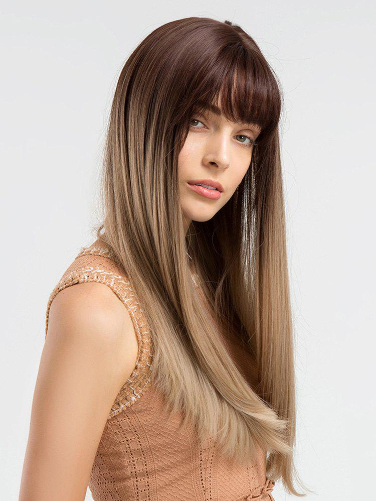 Outfit Long Full Bang Colormix Straight Synthetic Wig