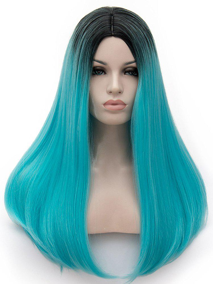 Best Center Parting Colormix Long Straight Party Cosplay Synthetic Wig