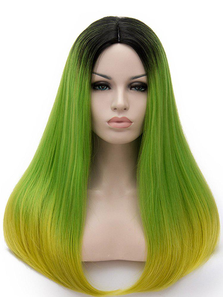 Fashion Center Parting Colormix Long Straight Party Cosplay Synthetic Wig