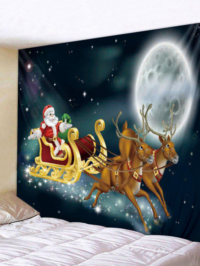 Trendy Wall Hanging Art Christmas Night Sleigh Print Tapestry