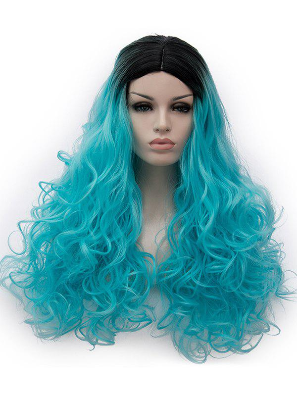 Discount Center Parting Ombre Long Curly Party Cosplay Synthetic Wig