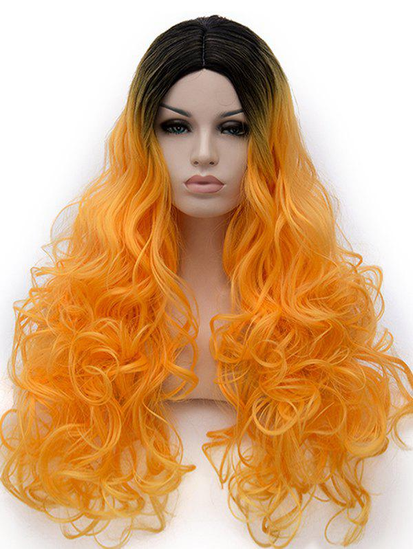 New Center Parting Ombre Long Curly Party Cosplay Synthetic Wig