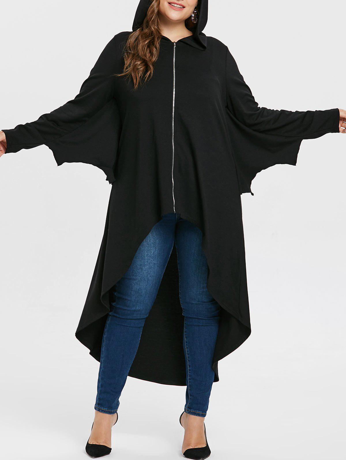 Online Halloween Plus Size Batwing Sleeve Long Coat