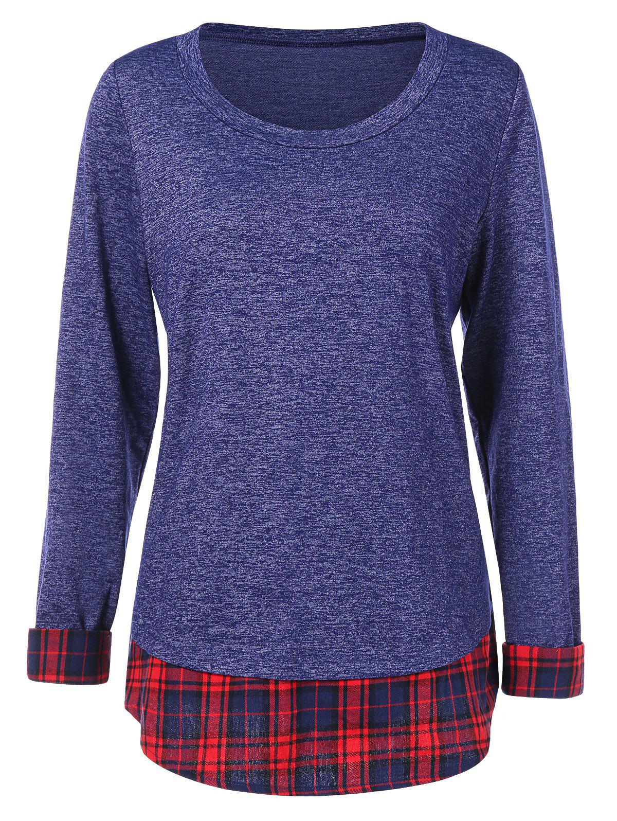 Latest Tartan Insert Full Sleeve T-shirt