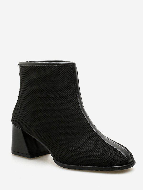 Latest Chunky Heel Mesh Ankle Boots