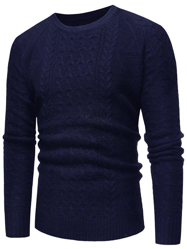 Outfit Jacquard Weave Crew Neck Sweater