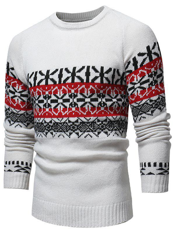 Buy Jacquard Weave Pullover Casual Sweater