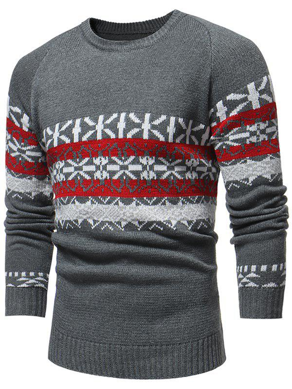 Hot Jacquard Weave Pullover Casual Sweater