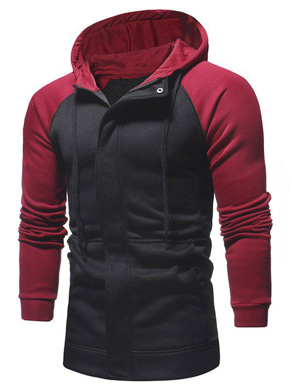 Latest Raglan Sleeve Contrast Color Hoodie