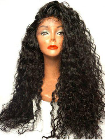 Long Side Parting Curly Synthetic Lace Front Wig