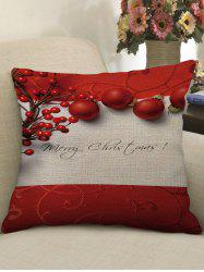 Merry Christmas Balls Print Decorative Sofa Linen Pillowcase -