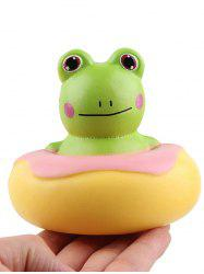 Frog Donut Stress-relief Slow Rising Squishy Toy -