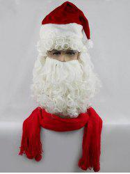 Long Side Bang Curly Santa Claus Cosplay Wig With Beard -