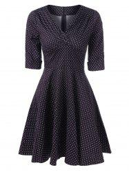 Vintage Dotted Pin Up Dress -