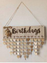 Wall Hanging DIY Wooden Birthday Calendar Reminder Board -