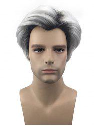 Short Inclined Bang Colormix Straight Film Character Cosplay Synthetic Wig -