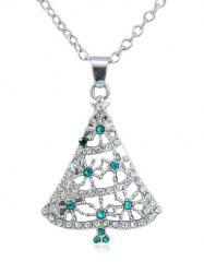 Rhinestone Christmas Tree Chain Necklace -