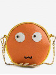 Round Shape Face Pattern Crossbody Bag -