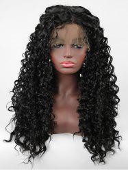 Long Side Parting Curly Lace Front Synthetic Wig -