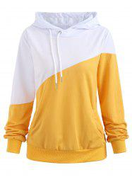 Color Block Hoodie with Pockets -