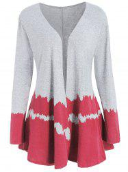Color Block Full Sleeve Cardigan -