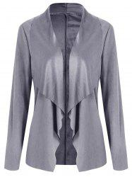 Draped Open Front Cardigan -