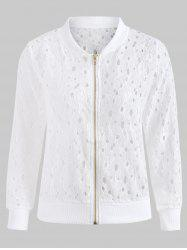 Zip Up Lace Jacket -