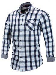Casual Check Print Button Up Shirt -