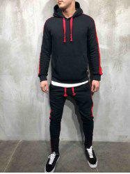 Side Stripe Hoodie Activewear Suit -